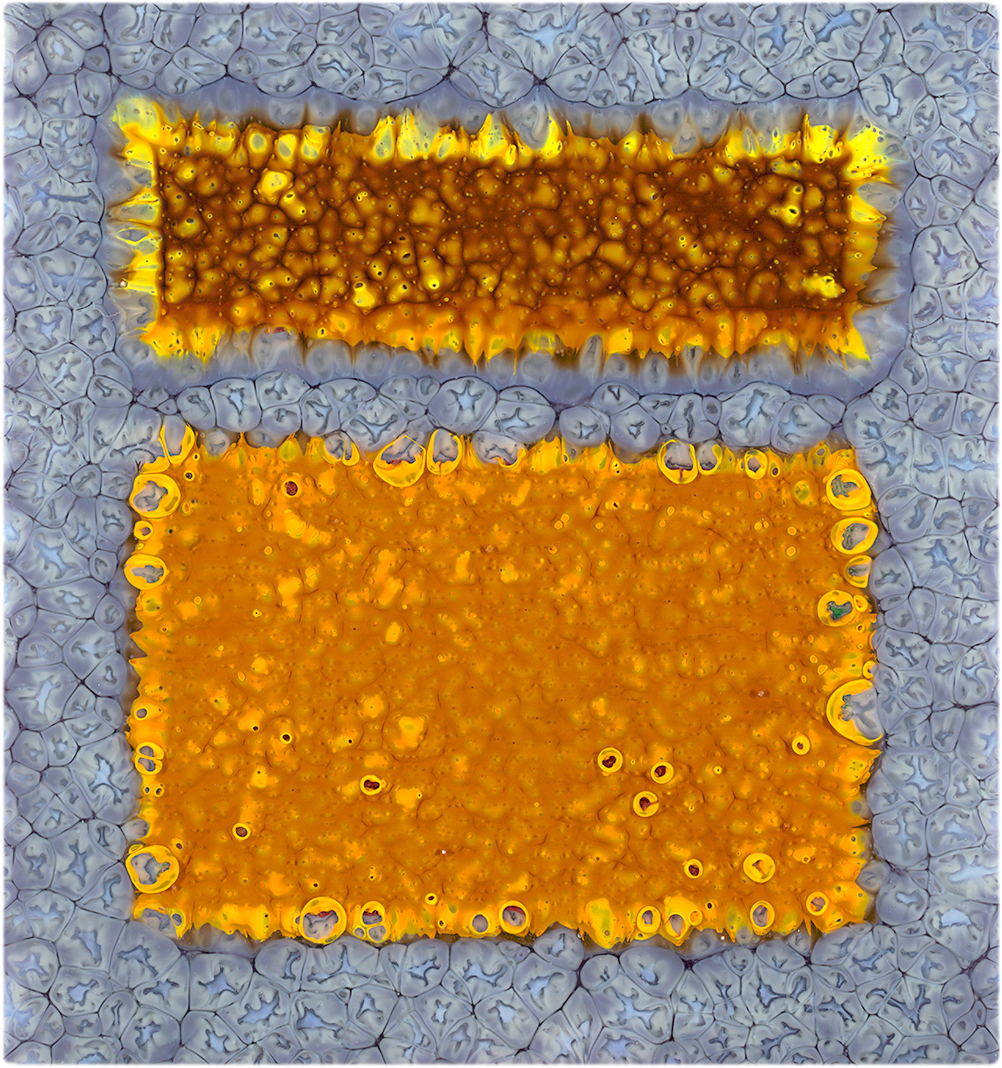 Fields-violet and amber 16 x 17