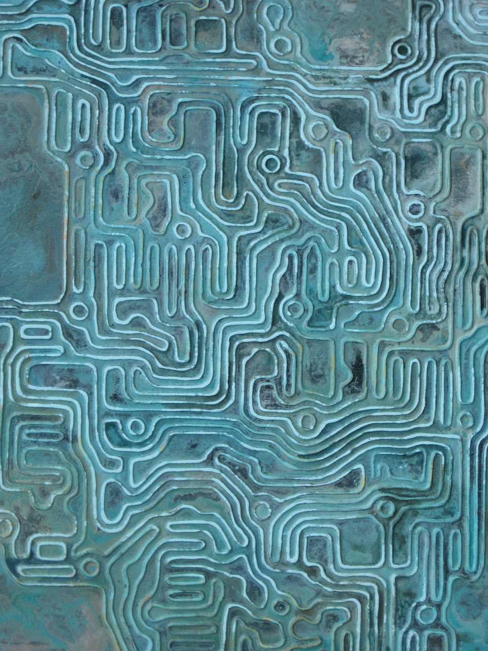 """Glyph 1 34"""" x 30"""" acrylic on panel"""