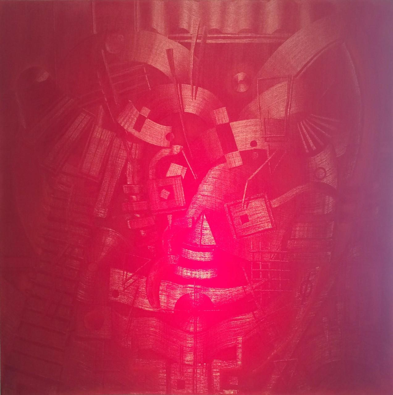 """Holomorphosis 5.4.9. 48"""" x 48"""" oil on canvas"""