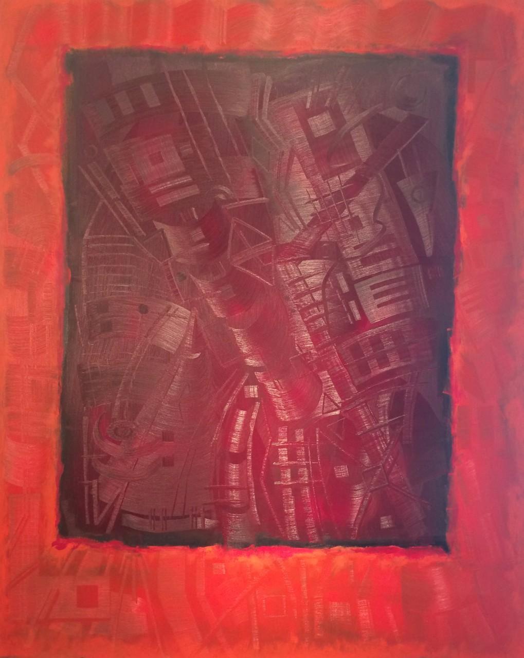 """Holomorphosis 810 60"""" x48"""" oil on canvas"""