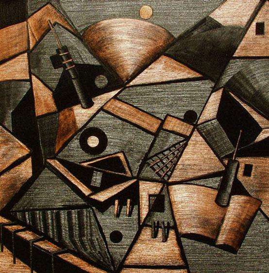"""Holomorphosis  36"""" x 36"""" oil on canvas"""