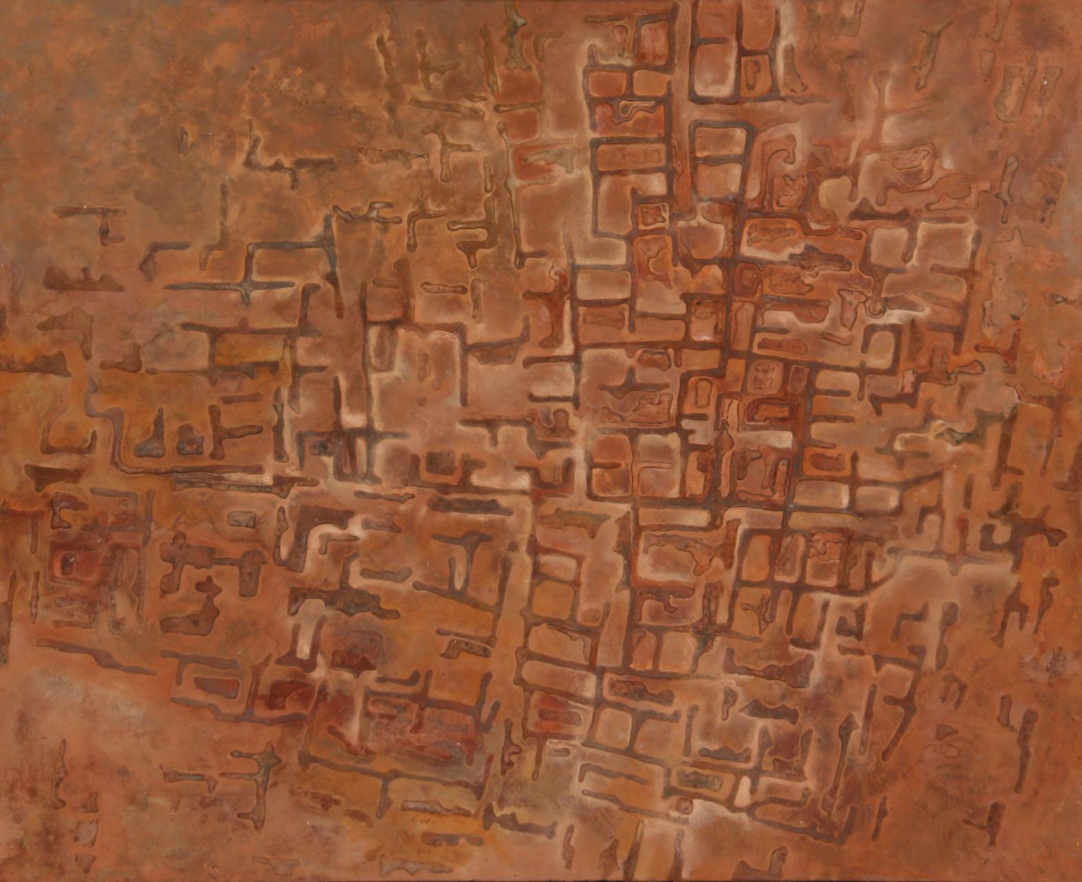 "Kangavar   48"" x 59""  mixed media on panel"