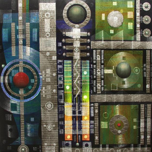 """Lumeniferous 48"""" x 48"""" oil on canvas"""