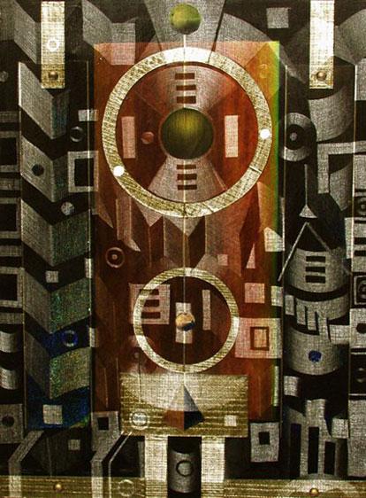 "Lumenmatrix 48"" x 36"" oil on canvas"