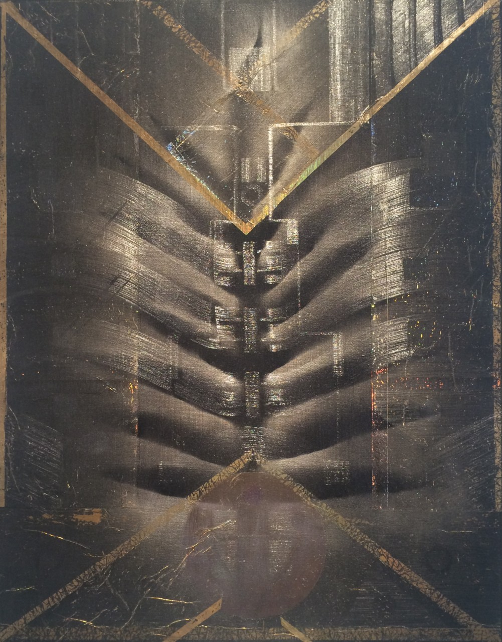 "Macrospace 28"" x 22"" oil on canvas"