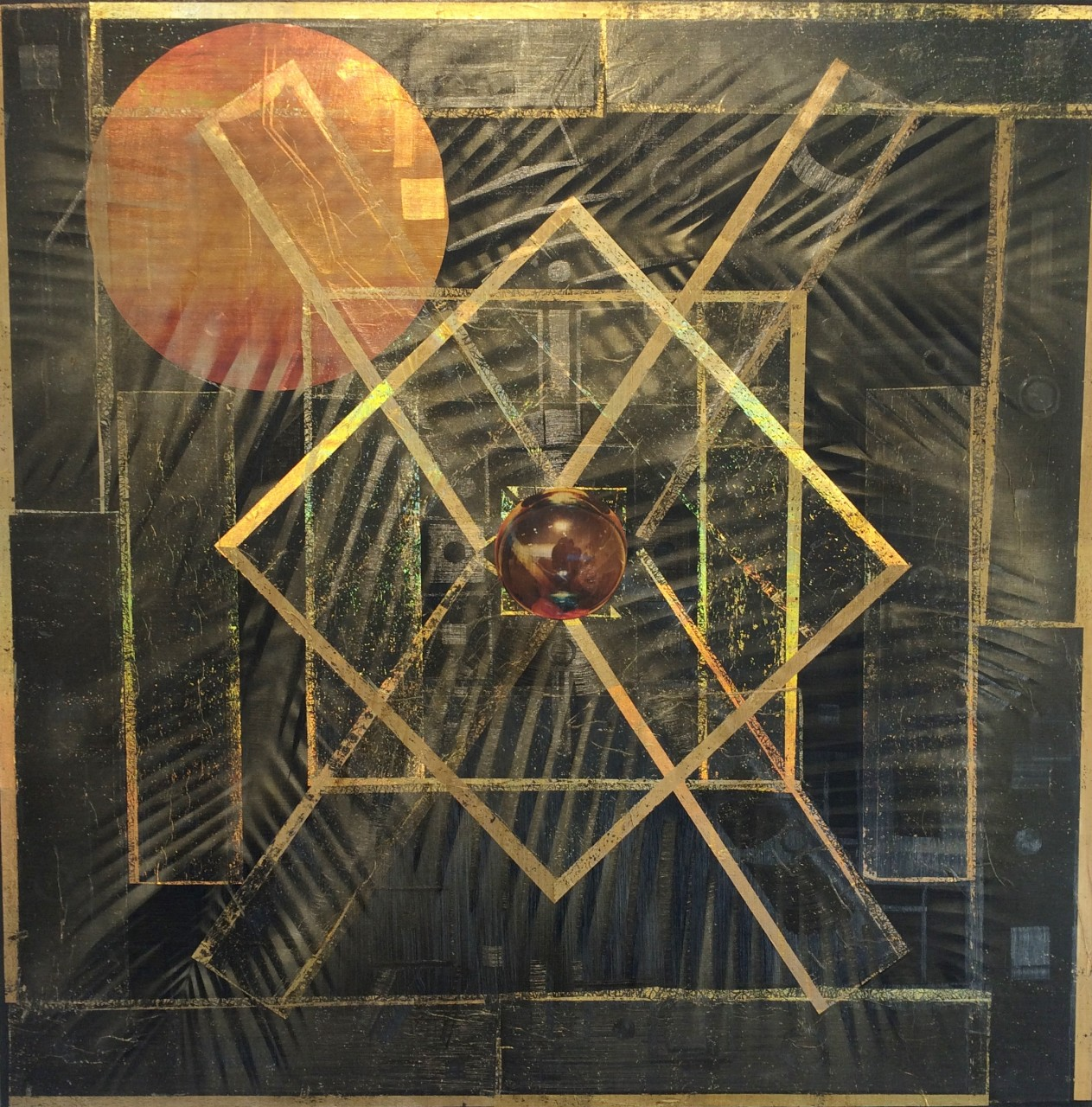 "Macrospace #4  54"" x 54"" oil on canvas"