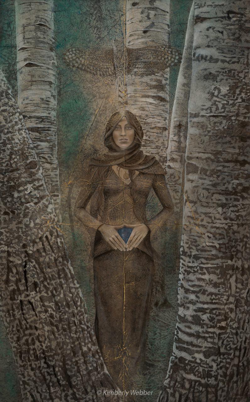 "Merkaba  53"" x 33"" earth pigments, oil on canvas"