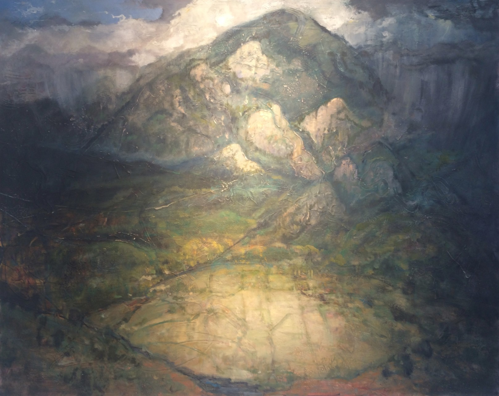 "Passing Storm 48"" x 60"" oil, encaustic on panel"