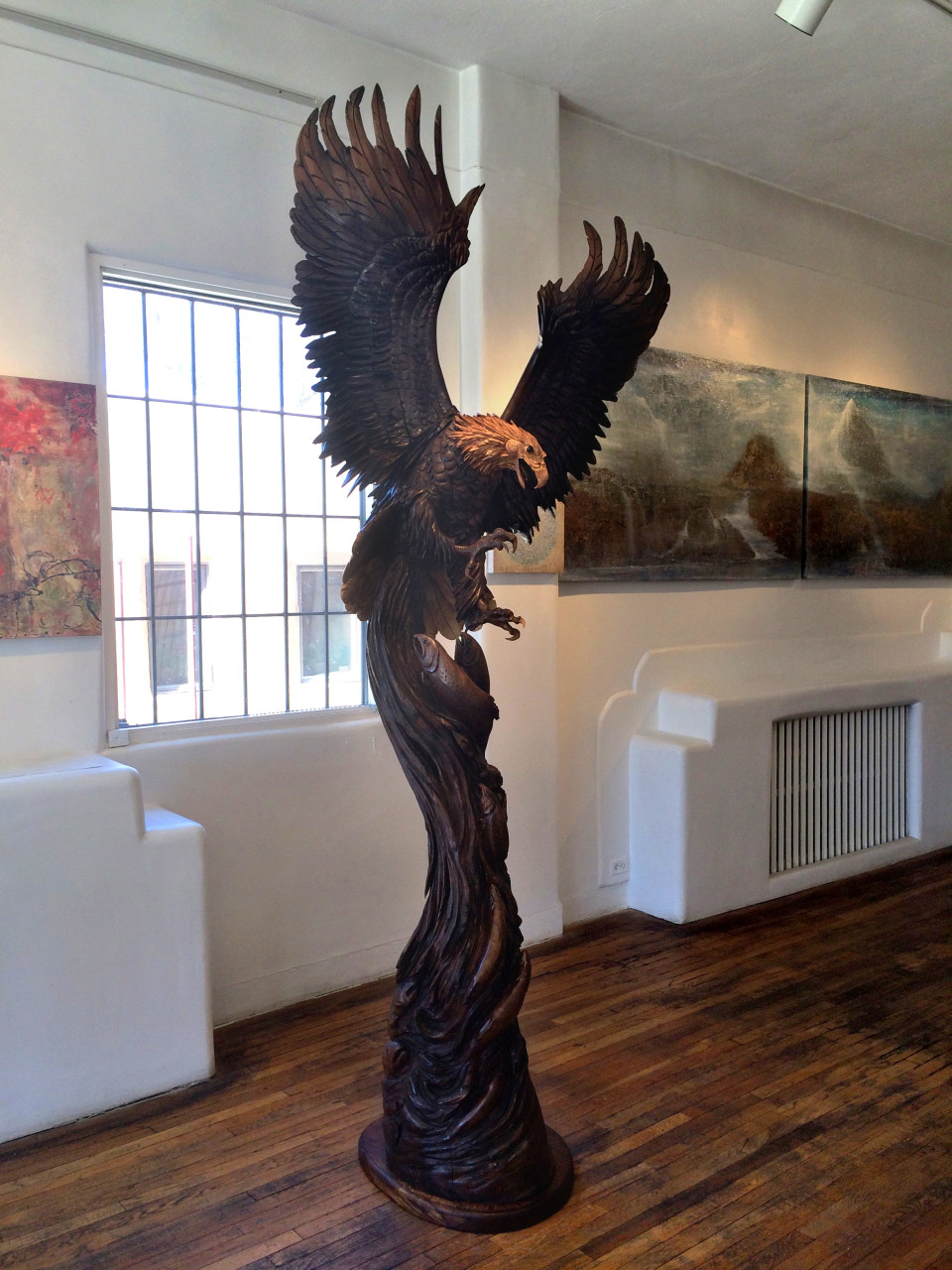 "Wings of Thunder 114"" x 48"" x 48"" black walnut"