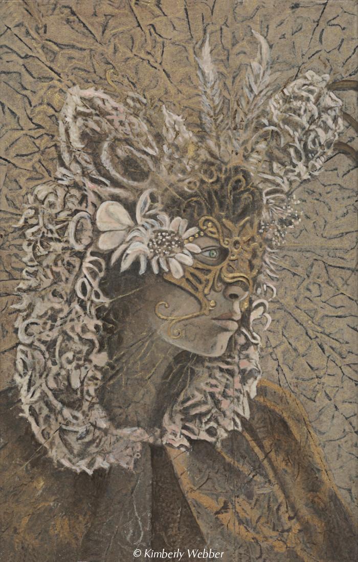 "Aradia  11"" x 7"" earth pigments, encaustic, oil on canvas"