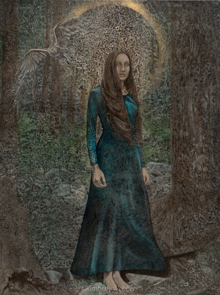 "Wisdom Keeper   48"" x 36"" earth pigments, oil on panel"