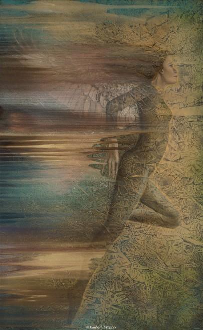 Eleusinian 53″ x 33″ earth pigments, oil on canvas