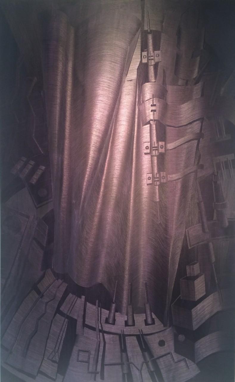 """Holomorphosis  72"""" x 45"""" oil on canvas"""